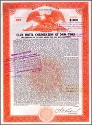 Club Hotel Corporation of New York 1929