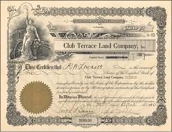 Club Terrace Land Company 1910 - Alabama
