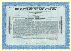 Cleveland Welding Company (Famous Bicycle Maker)  - Ohio 1930