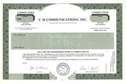 CM Communications, Inc. - Delaware