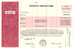 Conquest Airlines Corp. - Austin, Texas 1994