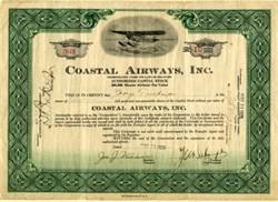 Coastal Airways, Inc. ( Seaplane Vignette) - 1929