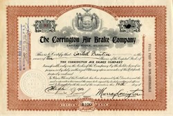 Corrington Air Brake Company - 1903