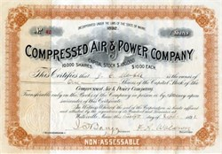 Compressed Air & Power Company - Maine 1892