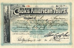 Cook's American Tours (Thomas Cook and Son) - Membership in the California Party - 1888