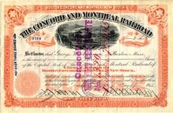 Concord and Montreal Railroad - Massachusetts 1915