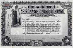 Consolidated Arizona Smelting Company - 1908 - Humboldt, Arizona 1908