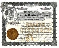 Concord Banking Company - Georgia 1907 - Silver Dollar Vignette