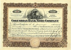 Columbian Bank Note Company - Illinois 1908