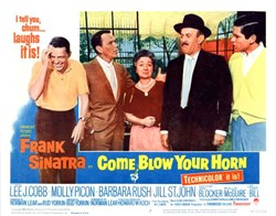 Come Blow Your Horn Lobby Card Starring Frank Sinatra - 1963