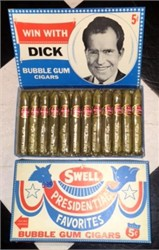 "Richard Nixon ""Win With Dick"" bubble gum cigars - 1960's"