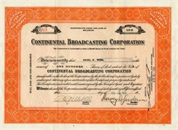 Continental Broadcasting Corporation - Delaware 1929