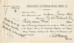 Consolidated California and Virginia Mining Company - 1897
