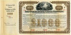 Commercial Cable Company 400 Year Specimen Gold Bond (Mackay Bennett Transatlantic Cable System)- New York 1897