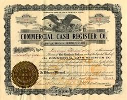 Commercial Cash Register Co. - Illinois 1902
