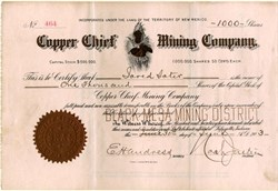 Copper Chief Mining Company - Territory of New Mexico 1903