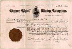 Copper Chief Mining Company - Territory of New Mexico 1903