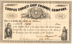 Corpus Christi Ship Channel Company - New York / Texas 1859