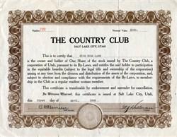 The Country Club -  Salt Lake City, Utah 1920