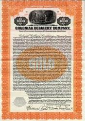 Colonial Colliery Company ( Coal Mining)- Pennsylvania 1924