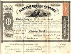 Corinth Copper Company - Vermont 1864