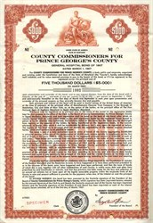 County Commissioners for Prince George's County - General Hospital Bond of 1967 - Maryland