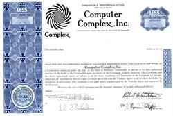 Computer Complex, Inc - Delaware 1969