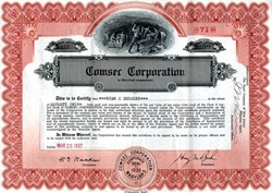 Comsec Corporation - Maryland 1937