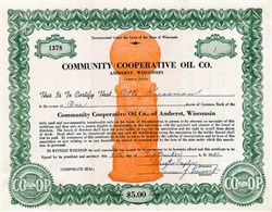 Community Cooperative Oil Company, Inc. - Amherst, Wisconsin 1942