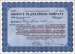 Coconut Plantations Company 1917