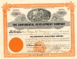 Continental Development Company - New Jersey 1910