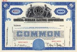 Cornell - Dubilier Electric Corporation Specimen (Electrolytic capacitor developer)  - Delaware 1944