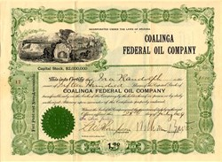 Coalinga Federal Oil Company - Arizona 1909
