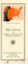 American Telephone and Telegraph Company Report  - New York 1923
