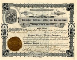 Copper Glance Mining Company - Bisbee, Territory of Arizona - 1902