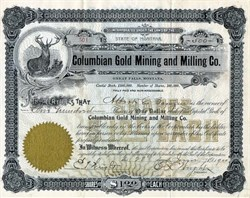 Columbian Gold Mining and Milling Co. - Great Falls, Montana 1901