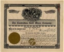 Contention Gold Mines Company - Mines in Telluride, Colorado - Territory of Arizona 1905