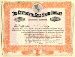 Continental Gold Mining Company - Colorado 1905