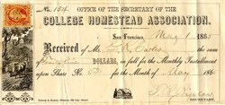 College Homestead Association - Berkeley, California 1865