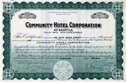 Community Hotel Corporation  ( Olympic Hotel ) - Seattle, Washington 1924