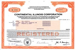 Continental Illinois Corporation - Largest U.S. Bank Failure in the 20th Century 1984