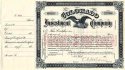 Colorado Investment Company - Colorado 1880's