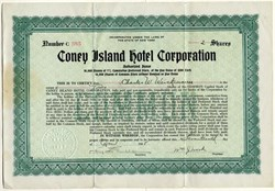 Coney Island Hotel Corporation - New York 1928