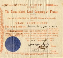 Consolidated Land Company of France - 1867