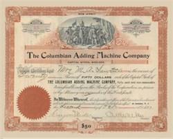 Columbian Adding Machine Company 1897