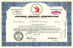 Colonial Aircraft Corporation Stock 1969 - New York ( Became Flying Boat maker Lake Aircraft )