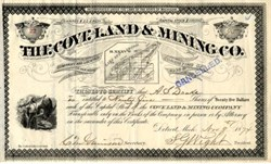 Cove Land & Mining Company - Detroit, Michigan 1874