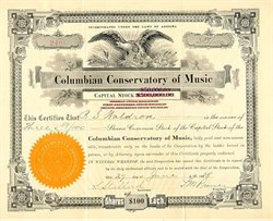 Columbian Conservatory of Music 1930