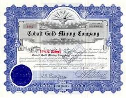 Cobalt Gold Mining Company 1931 - Colorado