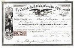 Colorado Gold Mining Company of Philadelphia 1870